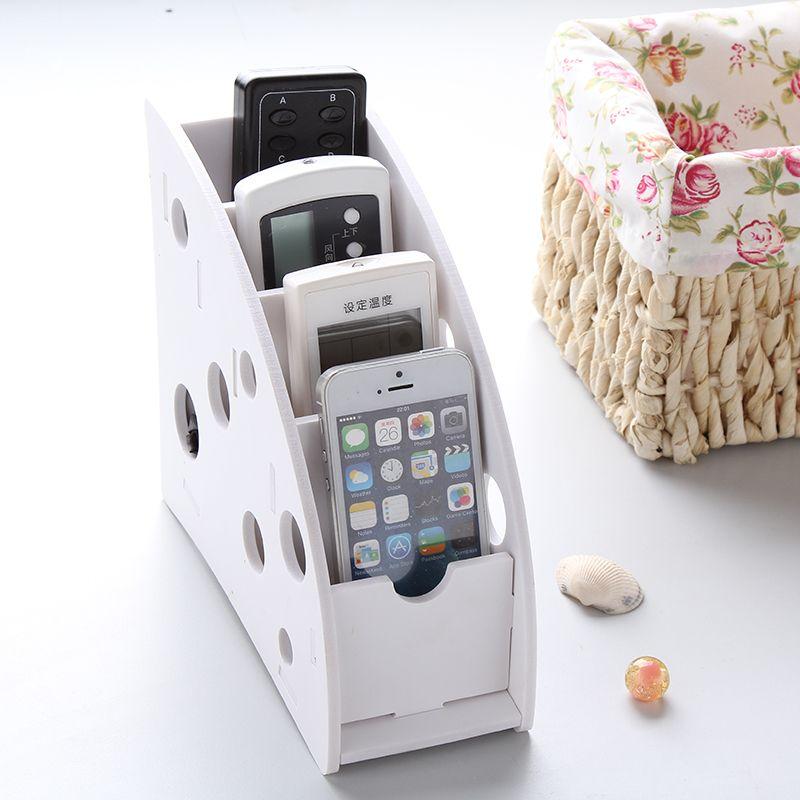 Télécommande Mobile Téléphone Organisateur De Support De Stockage Boîte De Rangement De Bureau Stylo De Stockage Rack Récipient En Plastique Titulaire Étagères