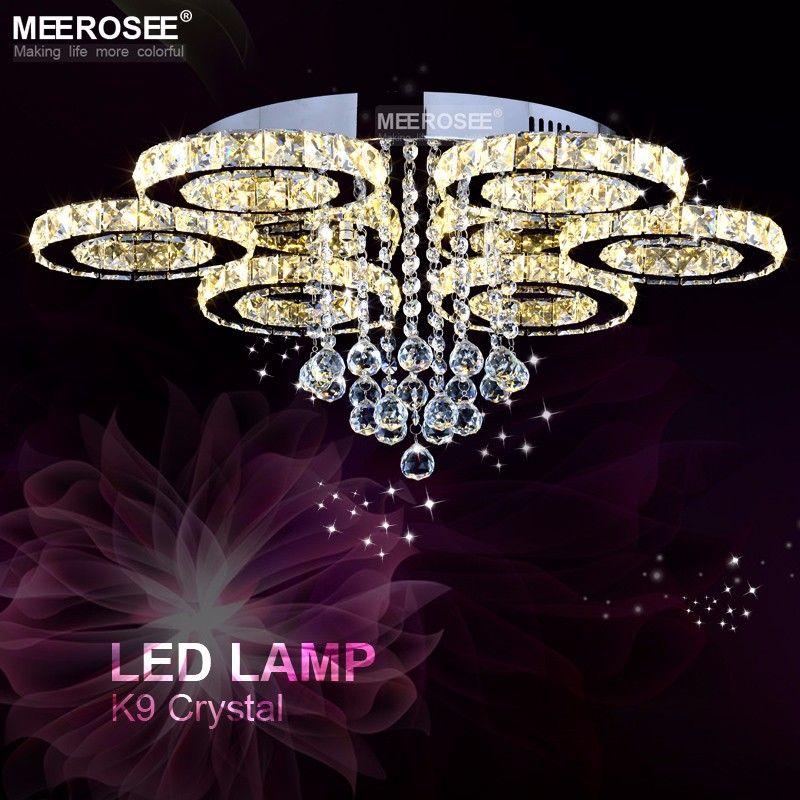 2018 neue design Kristall Deckenleuchte Diamant FÜHRTE Kristall lampe für Esszimmer wohnzimmer Ring Kreis Lüster Lamparas de techo hause