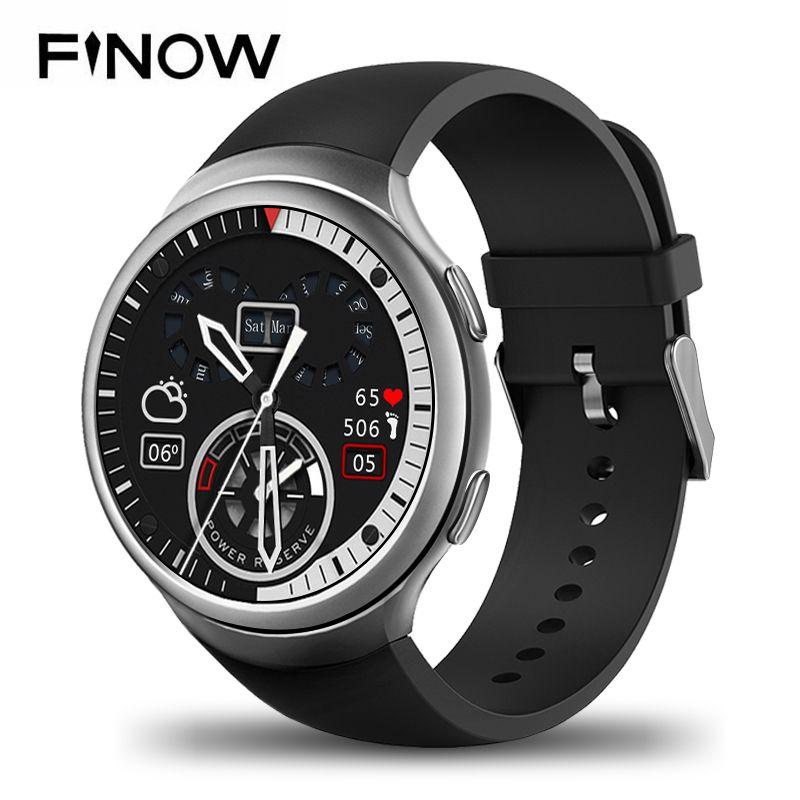 Новый finow X3 плюс Смарт-часы K9 MTK6580 Andorid 5.1 1 г + 8 г PK kw88 i3 шагомер Фитнес трекер BT 3G Wi-Fi для iOS и Andorid телефон