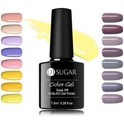 UR SUGAR 7,5 мл дизайн ногтей маникюр Отмачивание 112 цветов УФ Гель-лак Желтая серия чистый лак для ногтей