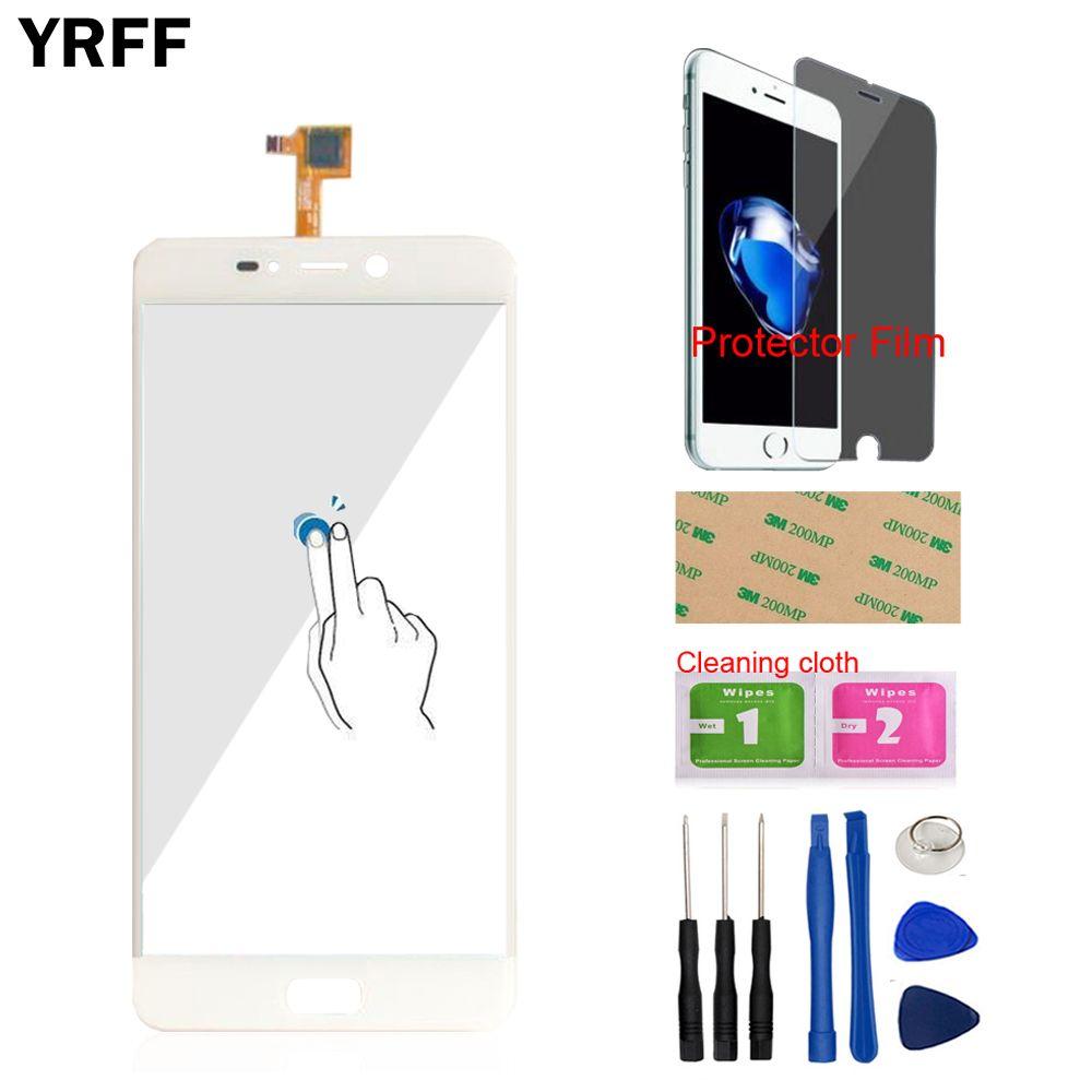 YRFF 5,5 zoll Telefon Frontglas Für Leagoo T5 Touchscreen Touch Digitizer-bereich Glas Werkzeuge Kostenloser Schutzfolie Klebstoff