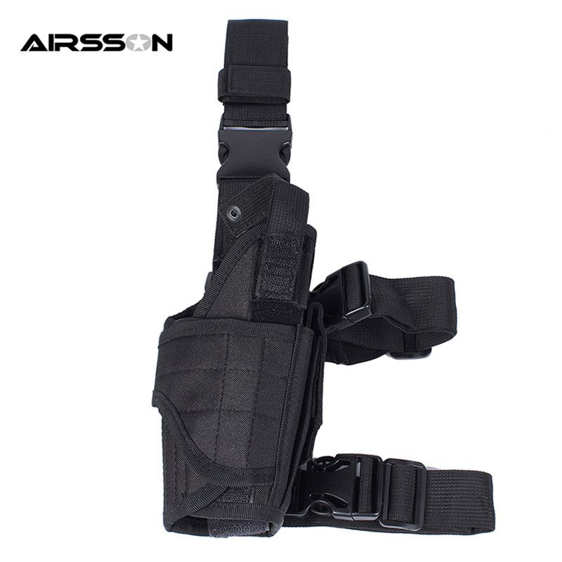 Right Hand Military Thigh Holster Gun Holster Tactical Universal Pistol Drop Holster Adjustable Drop right Pouch for Hunting