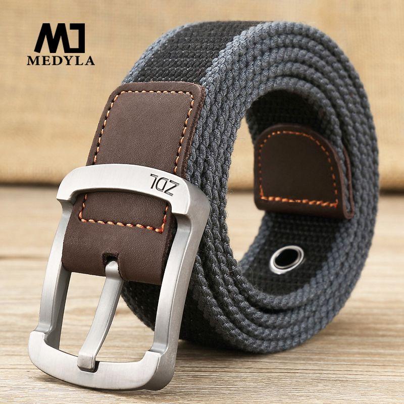 MEDYLA ceinture militaire ceinture tactique de plein air hommes et femmes qualité supérieure ceintures en toile pour jeans mâle de luxe décontracté bretelles ceintures