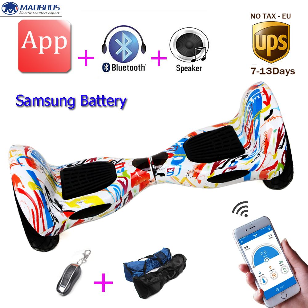 Self Balancing hoverboard 10inch unicycle Smart balance Samsung Battery APP 2 wheels electric Skateboard stand up scooter