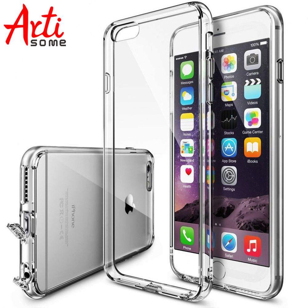 6 6 S Чехол для iPhone 6 S плюс Телефонные Чехлы Гибридный прозрачный акрил + Силиконовые ТПУ Коке для Iphone 6 s 6 Plus чехол artisome