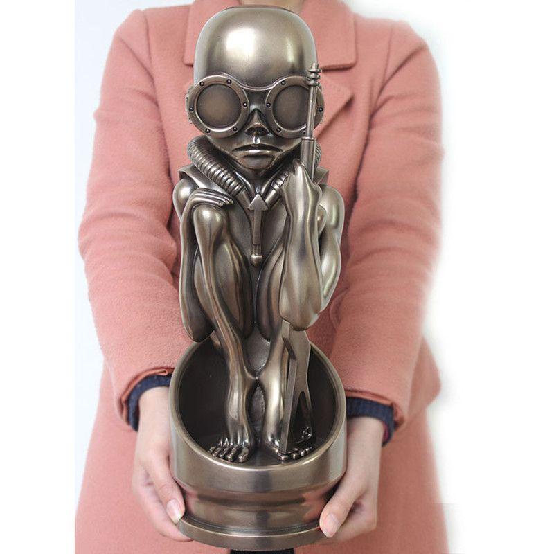 15.3 Pulgadas de H. R. Giger Clásico AVP Baby Bullet Birth Machine Estatua Hecha A Mano Decoración de La Resina Figura de Colección modelo de Juguete