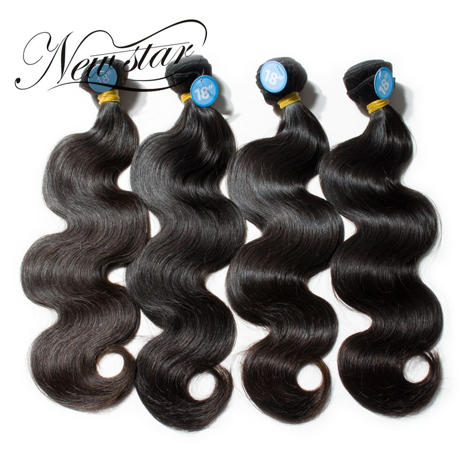 NEW STAR 4 Bundles Brazilian Body Wave Virgin Human Weave Hair Extension Unprocessed Cuticle Aligned Thick Soft Natural Color