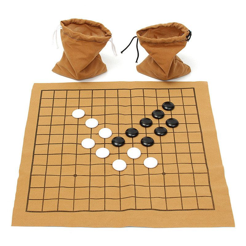 Hot Sale 90PCS Go Bang Chess Game Set Suede Leather Sheet Board Children Educational Entertainment Board Game