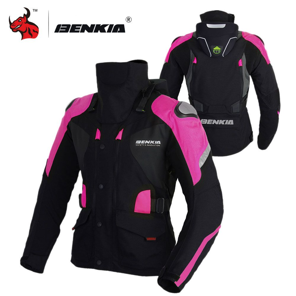 BENKIA Motorcycle Jacket Winter Women Moto Jacket Winter Riding Motorbike Keep Warm Jacket With Linner Motorcycle Protector