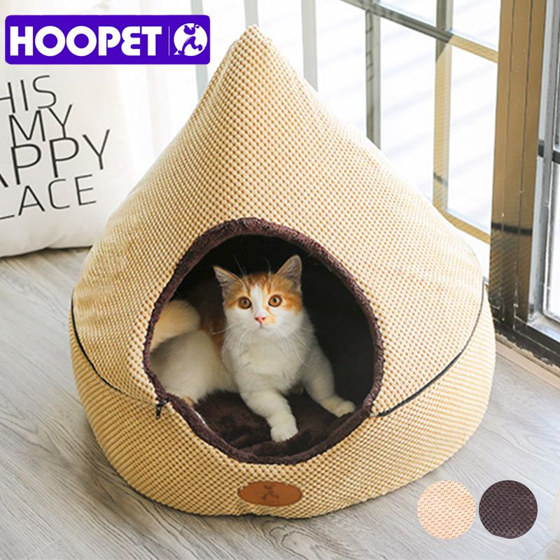 HOOPET Pet Dog Bed Cat Tent Dog House All Seasons Bed for dogs Dirt-resistant Soft Yurt Bed with Double Sided Washable Cushion