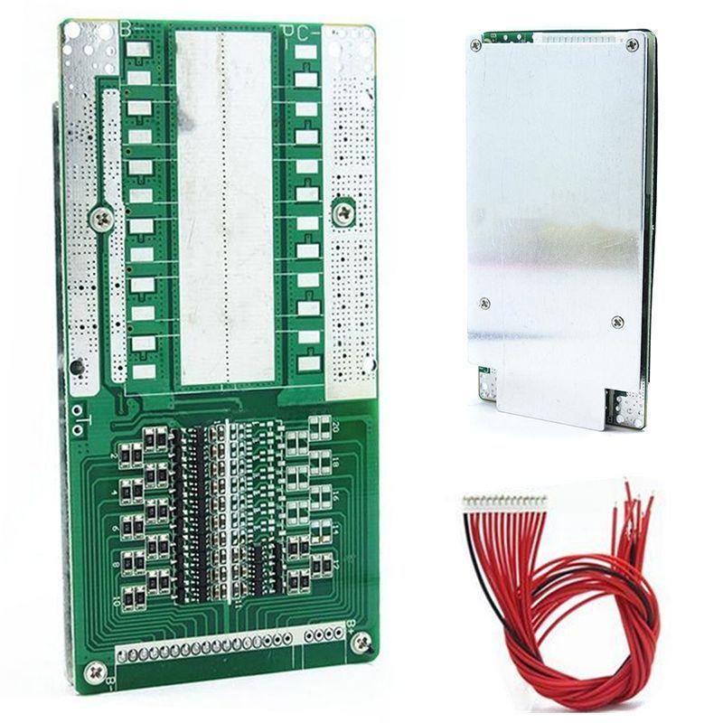 1 pc Haute Qualité 48 V 14 S 45A Li-ion Batterie BMS PCB avec L'équilibre Approprié Pour Ebike Escooter 120x60x9mm