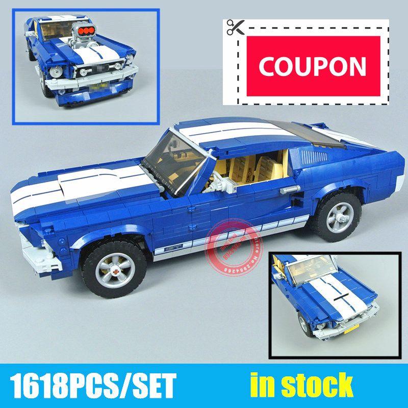 Nouvelle technique GT500 1967 créateur Expert Ford Mustang fit legoings Technic 10265 blocs de construction briques 21047 bricolage jouet cadeau d'anniversaire
