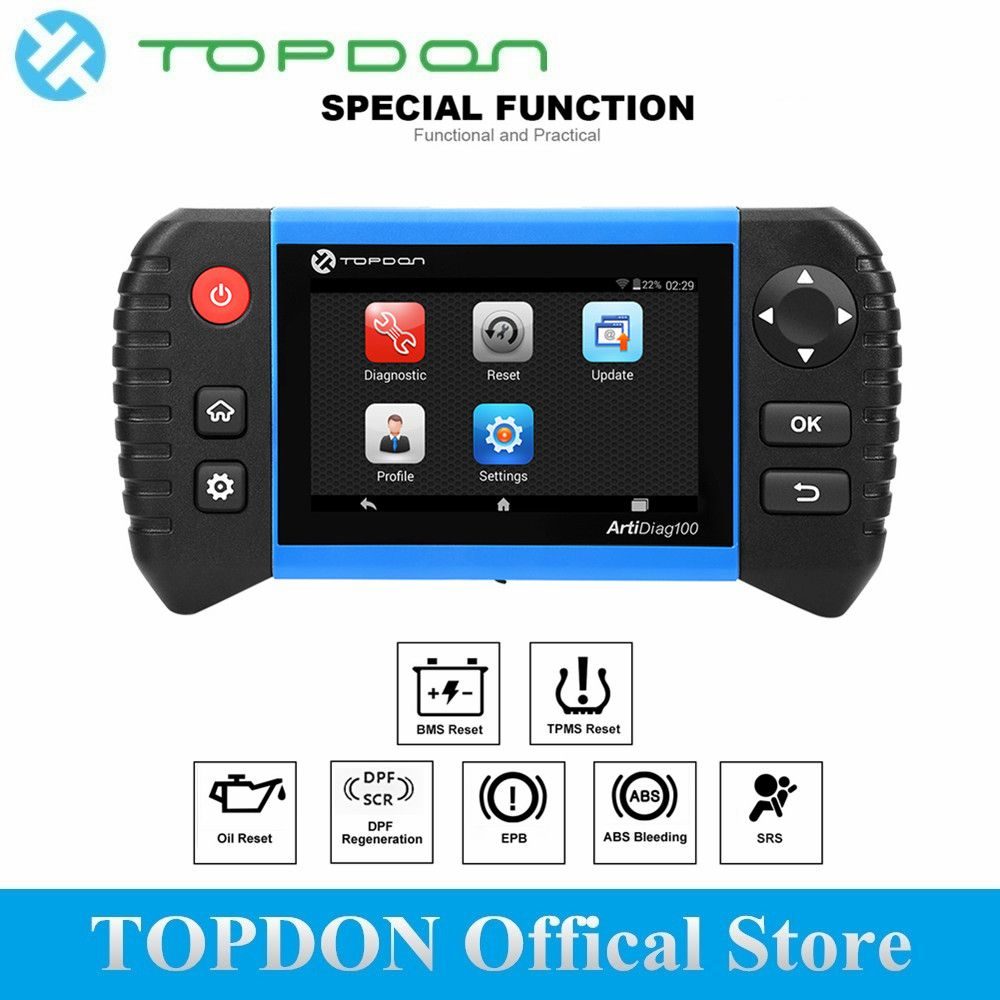 TOPDON ArtiDiag100 Diagnostic Tool Auto OBD 2 OBDII Scanner All System Professional Engine Analyzer Code Reader as CRP Touch Pro