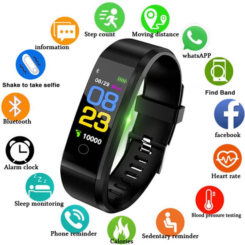 Bracelet santé fréquence cardiaque/pression artérielle/podomètre bande intelligente Tracker de Fitness Bracelet honour Mi bande 3 fit bit montre intelligente hommes