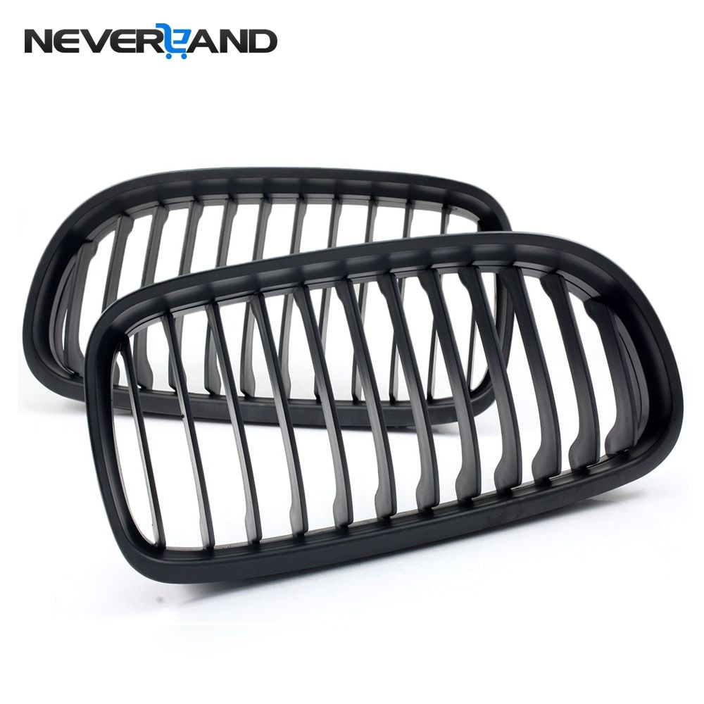 2pcs Front Matte Black Car Kidney Grille Grill for BMW E90 3 Series 4D 2008-2011 2009 2010 ABS Car Accessories Wholesale D30