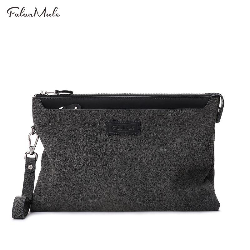2017 neue Mode Männlichen Kupplung Echtem Leder Brieftasche Männer Clutch Bag Kupplung Männlichen Brieftasche Luxus Leder Männer Brieftasche Handliche Tasche