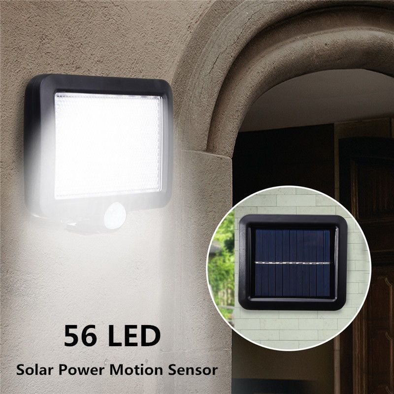 LED Solar Power PIR Motion Sensor Light Security Flood Outdoor Garden Path Lamp Induction Lamp Portico Lamp