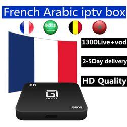 Android iptv boîte s905 7.1 android tv box avec le meilleur Français Arabe belgique 1 année iptv pour smart tv iptv m3u mag livraison gratuite