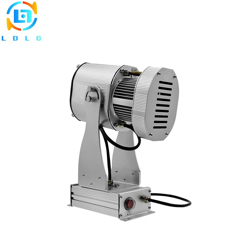 Newest Rotate Effect Custom Design Gobo Light 80W Logo Projector Waterproof Rustproof 10000lm Led Custom Images Gobo Projector