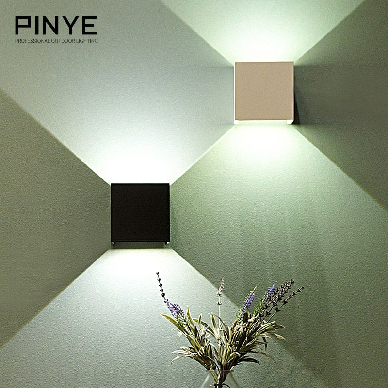6W LED Wall Light Outdoor IP65 Waterproof Modern Nordic style Indoor Wall Lamps Living Room Porch Garden Lamp