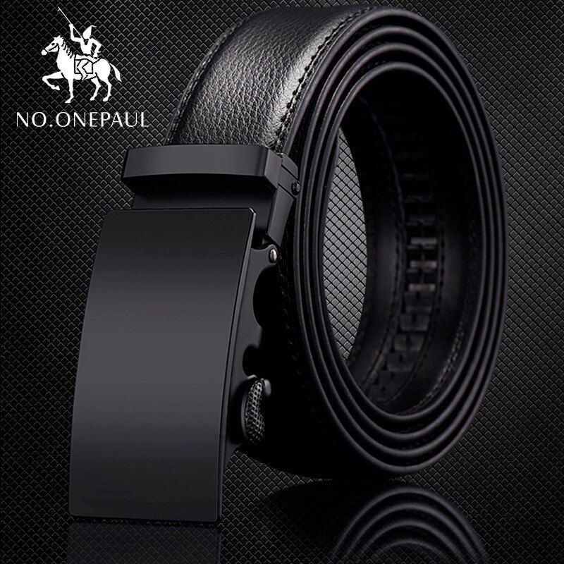 NO.ONEPAUL For Men Automatic Male Belts Cummerbunds Leather Belt Men dropshipping Black Belts Genuine Leather Belts Luxury brand