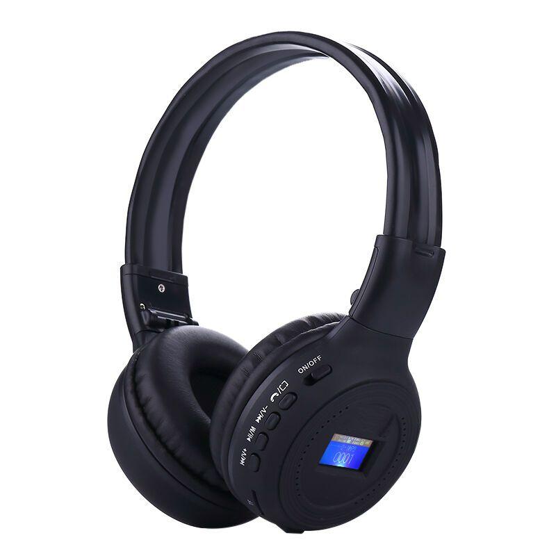 Nvahva световой Bluetooth Беспроводной Наушники гарнитура наушники, AUX проводной стерео Auriculares с fm Радио TF Музыка ЖК-дисплей Экран