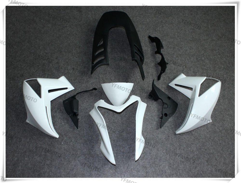 Motorcycle Unpainted White Fairings BodyWork Kit For KAWASAKI ER-6N ER 6N ER6N 2009 2010 2011 +4 Gift