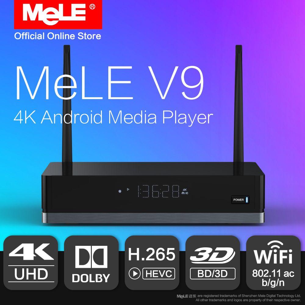 MeLE V9 Android 6.0 Mini PC TV Box HDMI Media Player 4K HDR Realtek RTD1295 2GB 16GB 802.11ac WiFi 1000M Ethernet Dolby Kodi