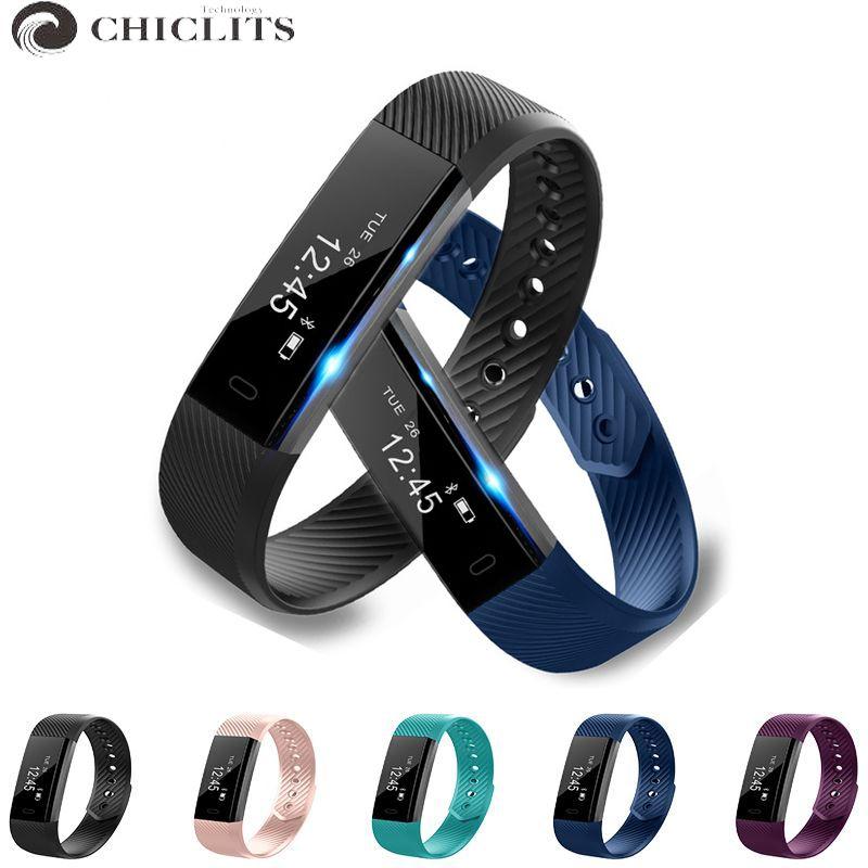 ID115 Bande À Puce Bluetooth Bracelet Podomètre Fitness Tracker Montre Réveil À Distance Caméra Bracelet Pour iOS Android