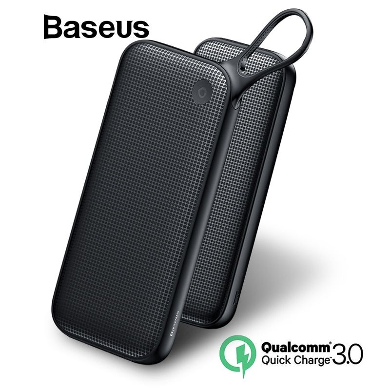 Baseus 20000 mah Dual USB Quick Charge 3,0 Power Bank Für Samsung S9 iPhone X Xs Max Huawei Telefon Power USB PD Schnelle Lade