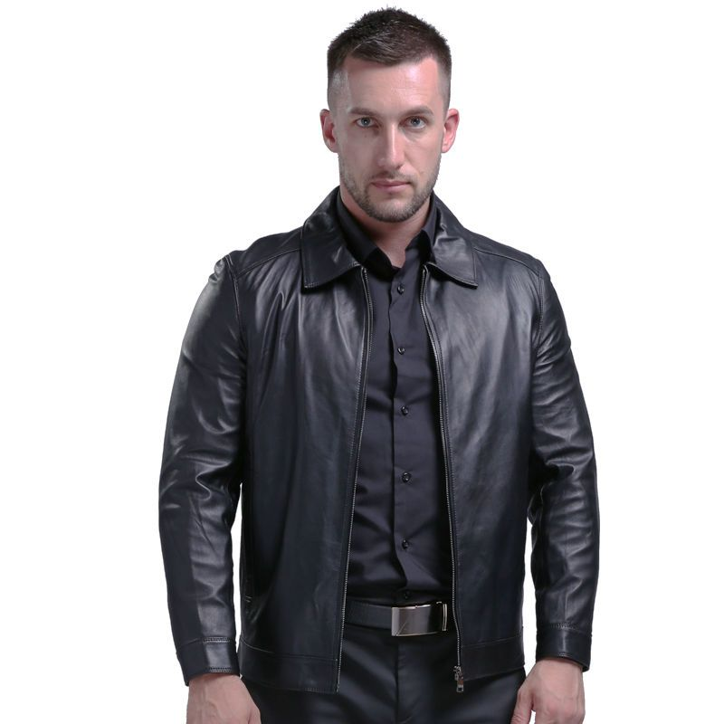 AIBIANOCEL Spring Men's Genuine Leather Jacket For Men Real Sheepskin Jaqueta De Couro Masculina Men Pure Leather Coat 4XL 1615