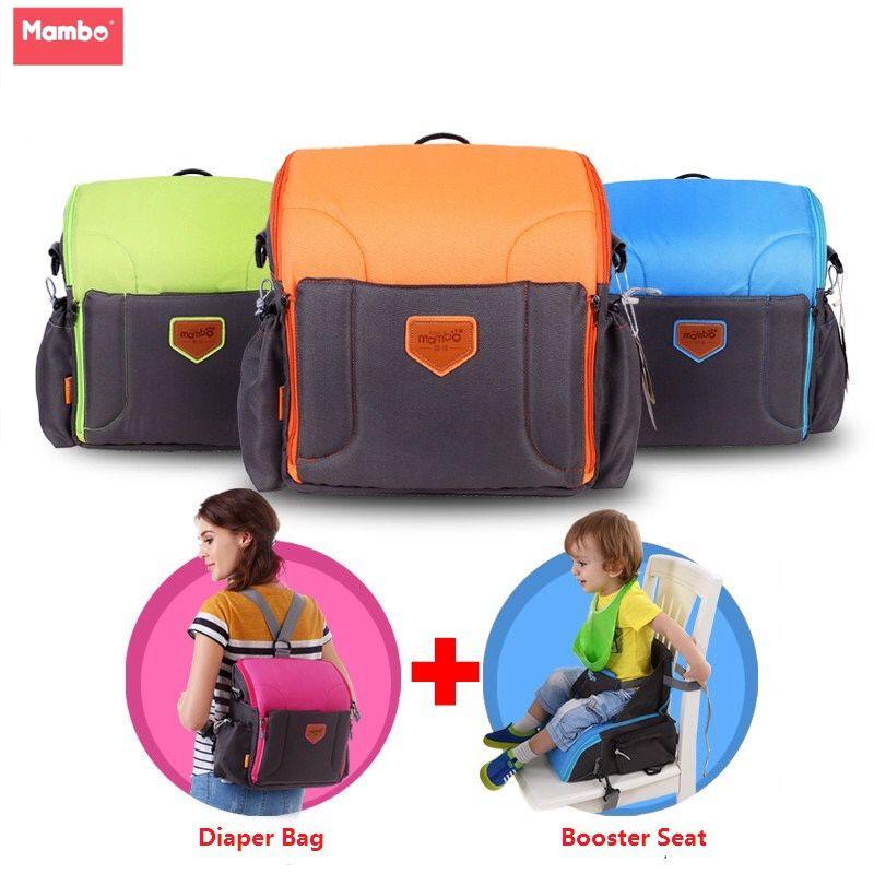 2 en 1 Portable bébé rehausseur sièges couche dag pour maman bébé chaise alimentation maman sandalyesi nappy sac à dos couche