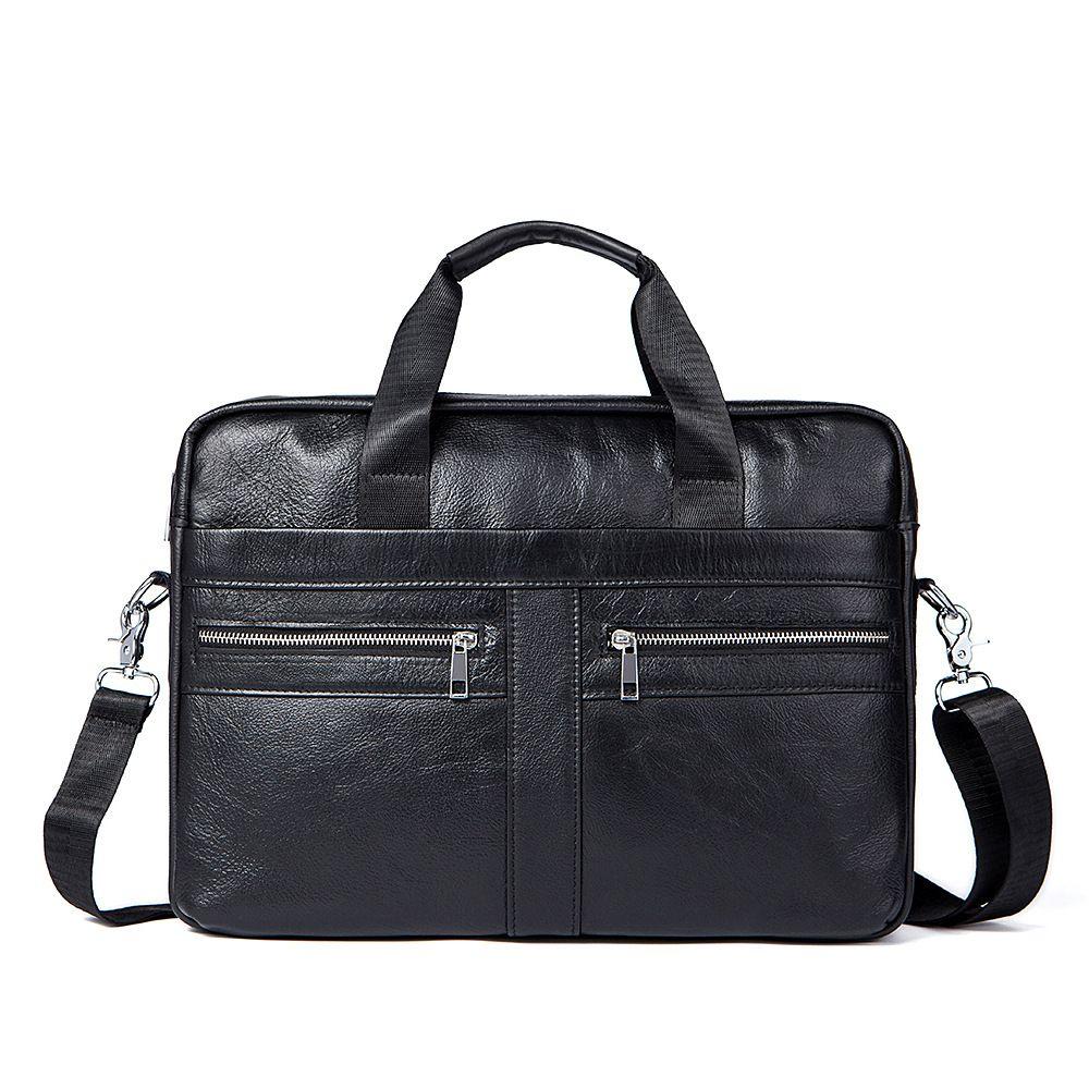 2018 Zeitlich begrenzte Kvky Marke Business Männer Aktentaschen 100% Echtem Leder Handtaschen Kuh Große Messenger Taschen Laptop Mit Griff