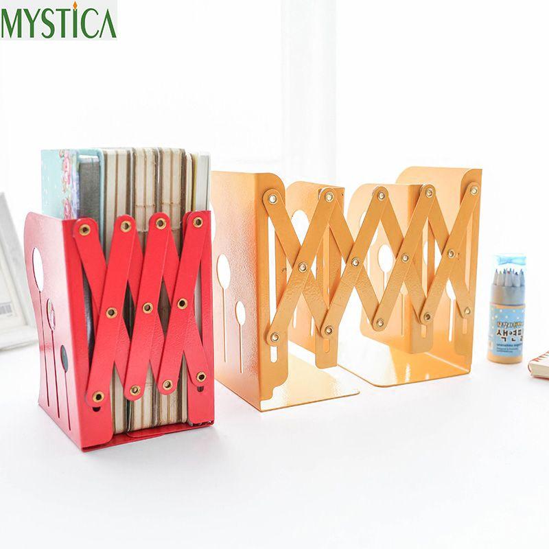 2017NEW ecológico libro estantería salón Retráctil Portátil estantes de libros estudiante color retro creativo libro sostenedores del almacenaje