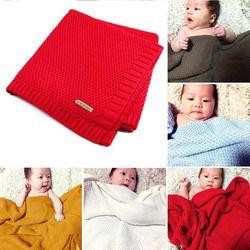 Haute Qualité Bonbons Couleur Infantile De Laine Couverture Children100 % Organique Coton Tricoté Couverture de Bébé pour Garçons Filles Enfants
