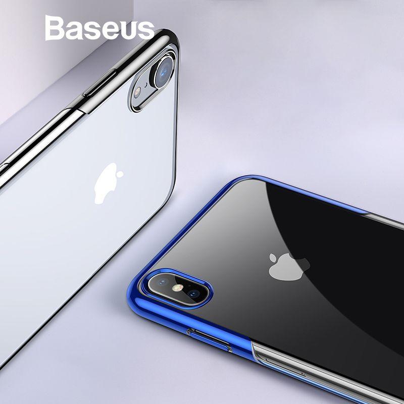 Baseus Luxus Überzug Fall Für iPhone XR Xs Xs Max Ultra Dünne Weiche Silikon Ausgestattet Fall Für iPhone XR 2018 telefon Abdeckung Coque