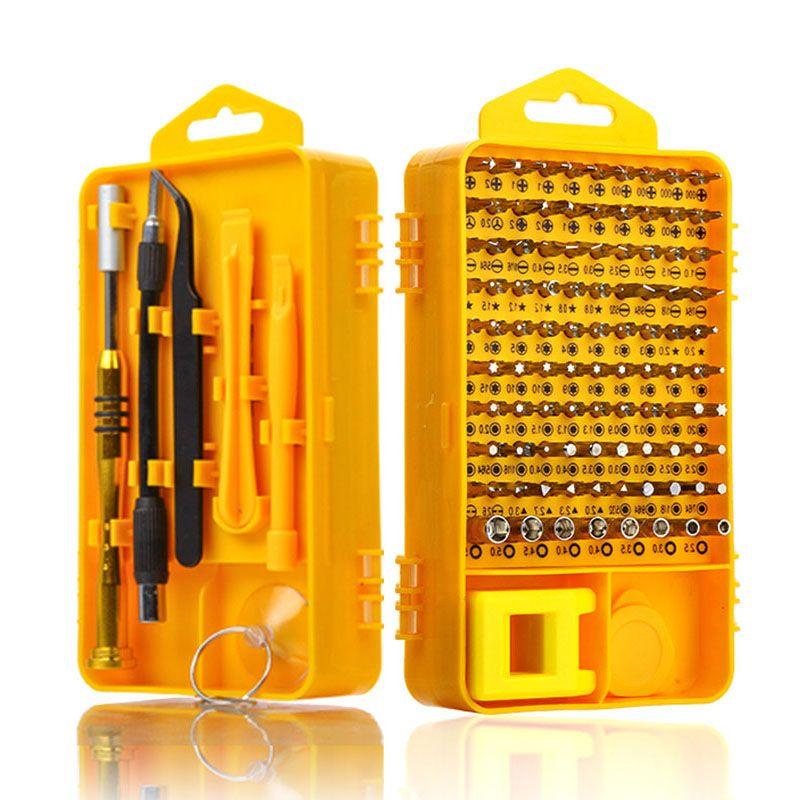 Ensemble de tournevis 108 en 1 Kit d'outils de réparation d'ordinateur multifonction outils essentiels réparation de tablette PC de téléphone portable numérique