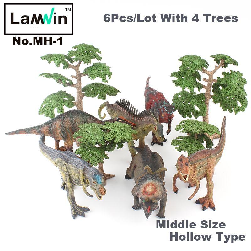 Lamwin 6 шт./лот Пластик Динозавров Коллекция игрушек набор средний полый реалистичная модель рисунок динозавра яйцо подарок с Ёлки