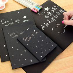 Hot Diary Sketsa menggambar Lukisan grafiti hitam kertas 28 lembar keci notebook buku Perlengkapan Sekolah sebagai hadiah 16 k 32 k 56 k