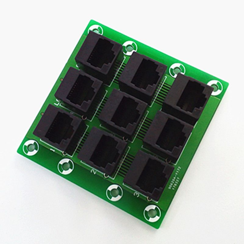 RJ45 8P8C Jack 9-Way Buss Breakout Board,Terminal Block, Connector.