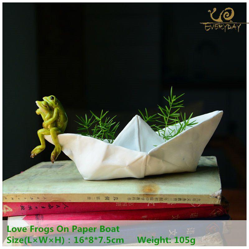 Collection quotidienne Animal grenouille résine pot de fleurs maison/bureau/bureau/fée jardin décoration plantes succulentes pot de fleur