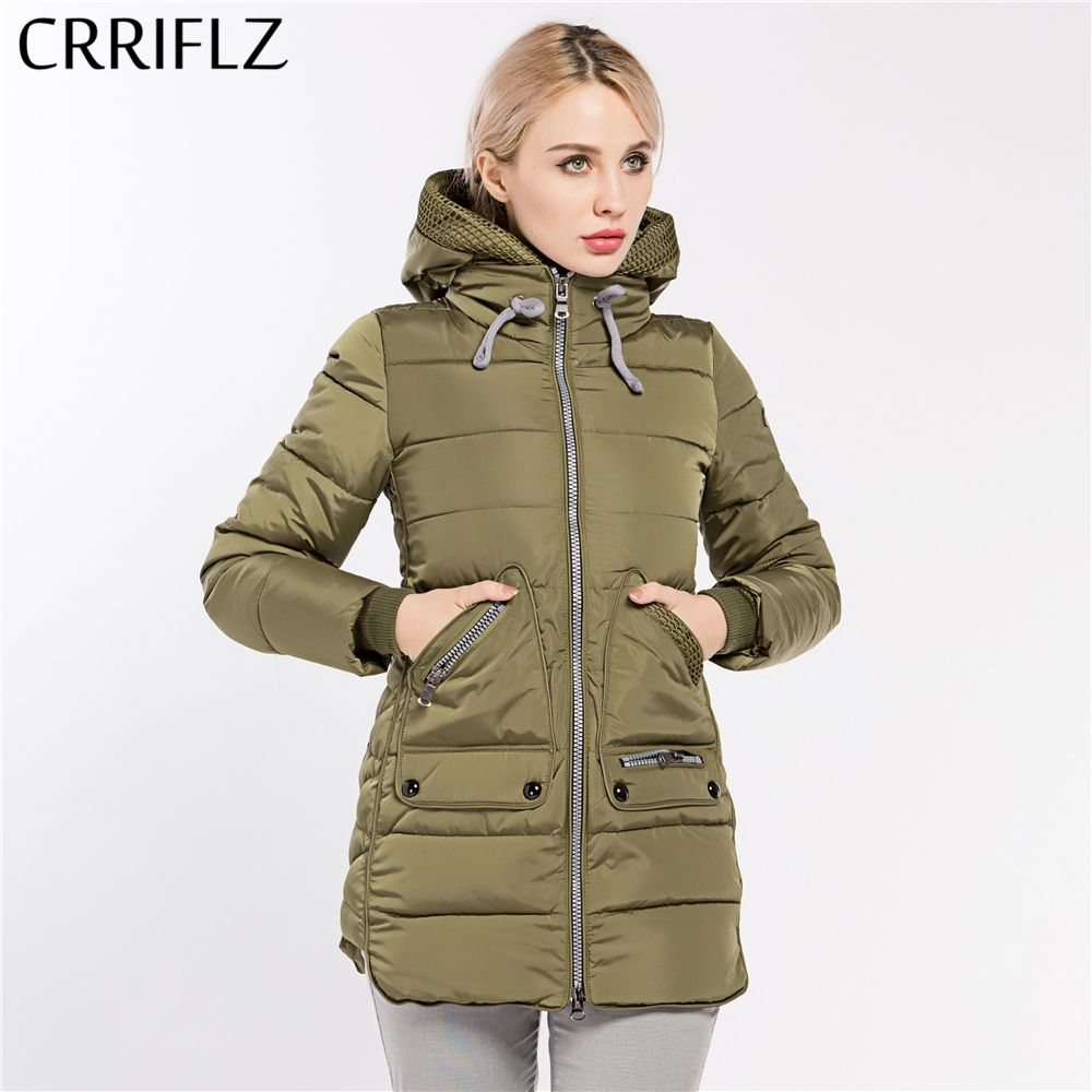 CRRIFLZ 2017 New Winter Collection Hot Women's Parka Hooded Warm Jacket Fashion Brand High Quality Thick Plus Size Outwear Coat