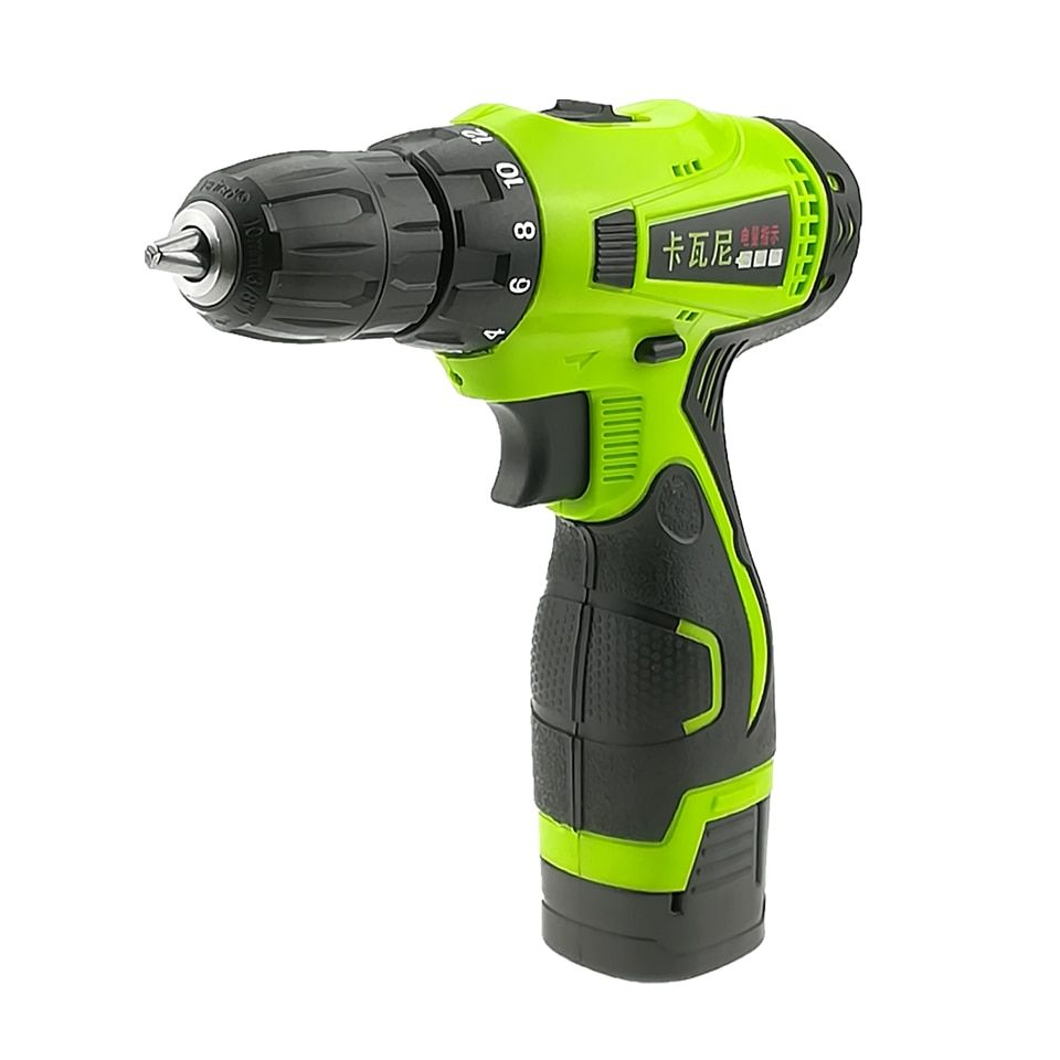 16.8V Electric Drill Double Speed Lithium Cordless Drill Household Multi-function Electric Screwdriver Power Tools