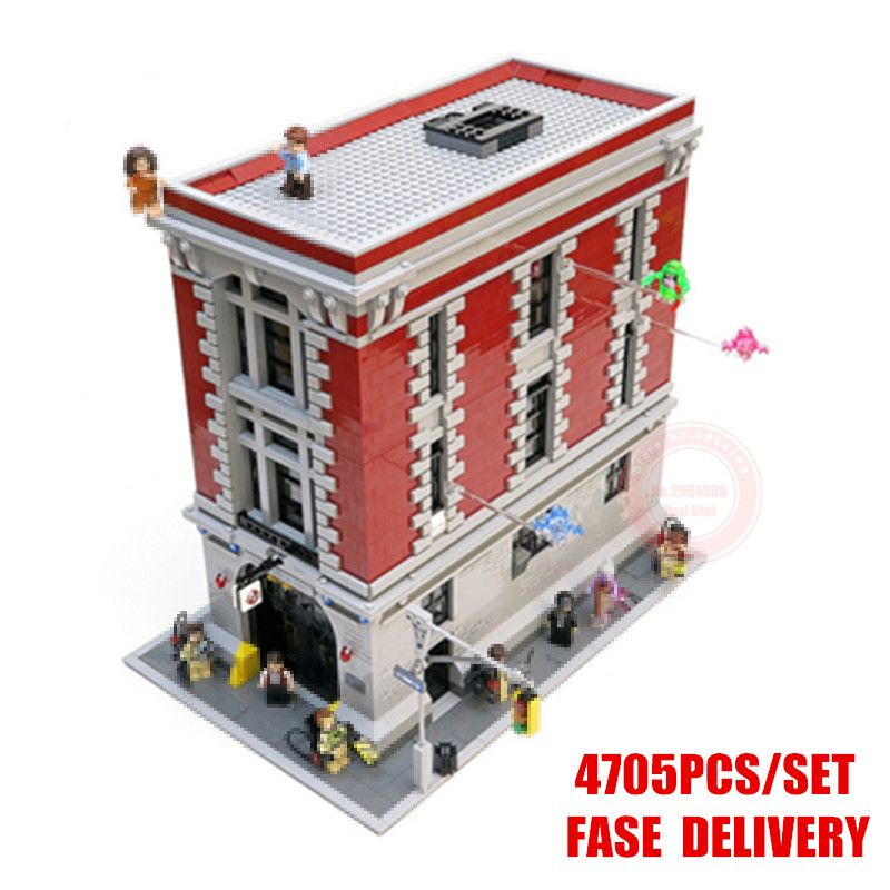 New Ghostbusters Firehouse headquarters fit legoings 75827 city figures Ghostbusters Building block bricks model toys child gift
