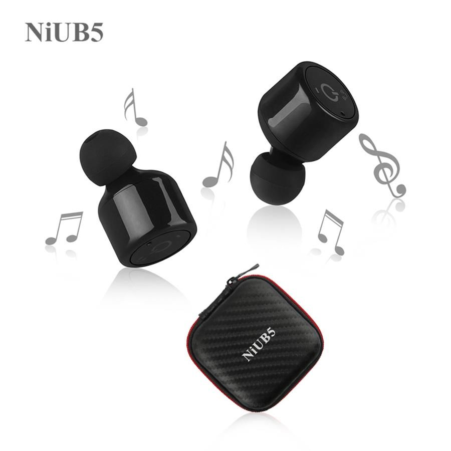 Jumeaux Vrai Sans Fil Bluetooth Écouteurs NiUB5 X1T Mini Invisible Sans Fil Bluetooth CSR 4.2 Écouteurs Anti-chute Casque avec Mic