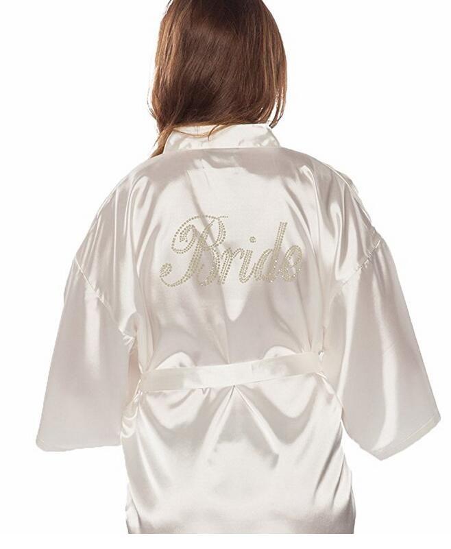 Traje de Boda vestido de Novia Mujeres Nupcial Blanco Del Vestido de Bata Camisón de dormir ropa de dormir Bata De Casa ropa de Dormir Camisón Bata