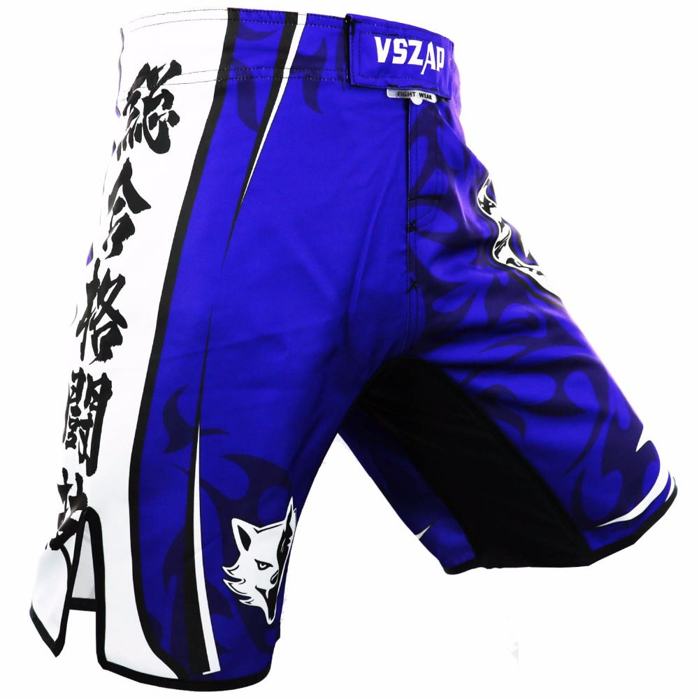 VSZAP MMA Boxing Motion Clothing Cotton Loose Size Training Kickboxing Shorts Muay Thai Shorts Cheap MMA Shorts Boxeo Mens Pants
