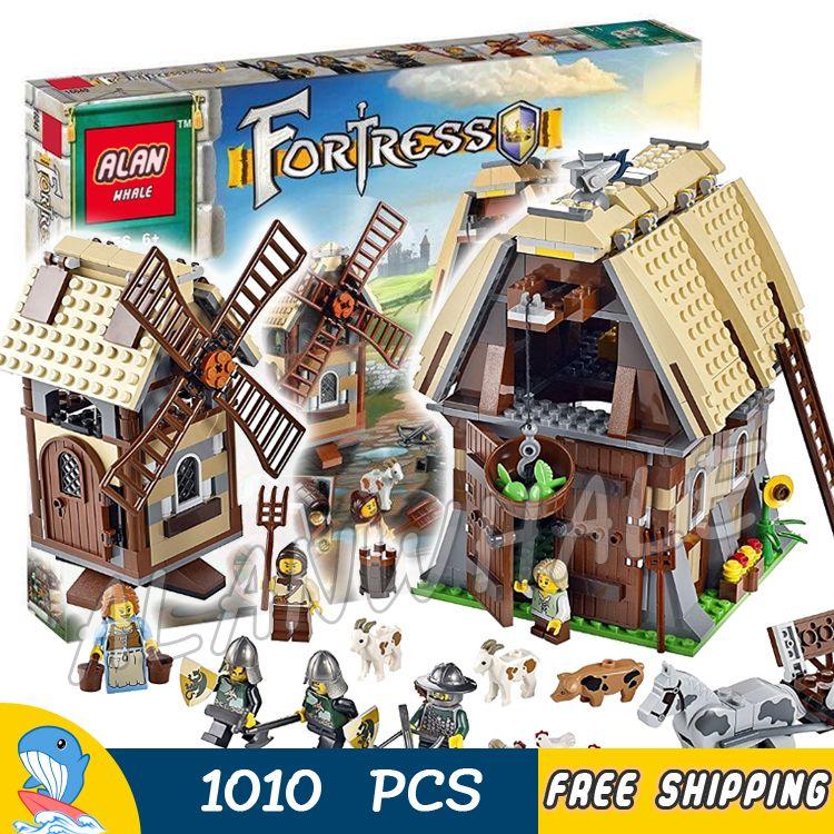 1010pcs Kingdoms Castle Mill Village Raid Knights 16049 Model Building Blocks Children Assemble Toys Bricks Compatible With lego