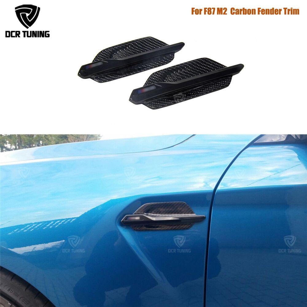 Carbon Side Grille Für BMW F87 M2 Carbon Fiber Fender Trim Abdeckung 2014 2015 2016 2017-UP