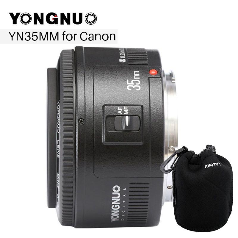 YONGNUO 35mm Objektiv YN35mm F2 Objektiv 1:2 AF/MF Breite-Winkel Festcode/Prime Auto Fokus Objektiv für Canon EF Montieren EOS Kamera EOS 5DII 5 DIII